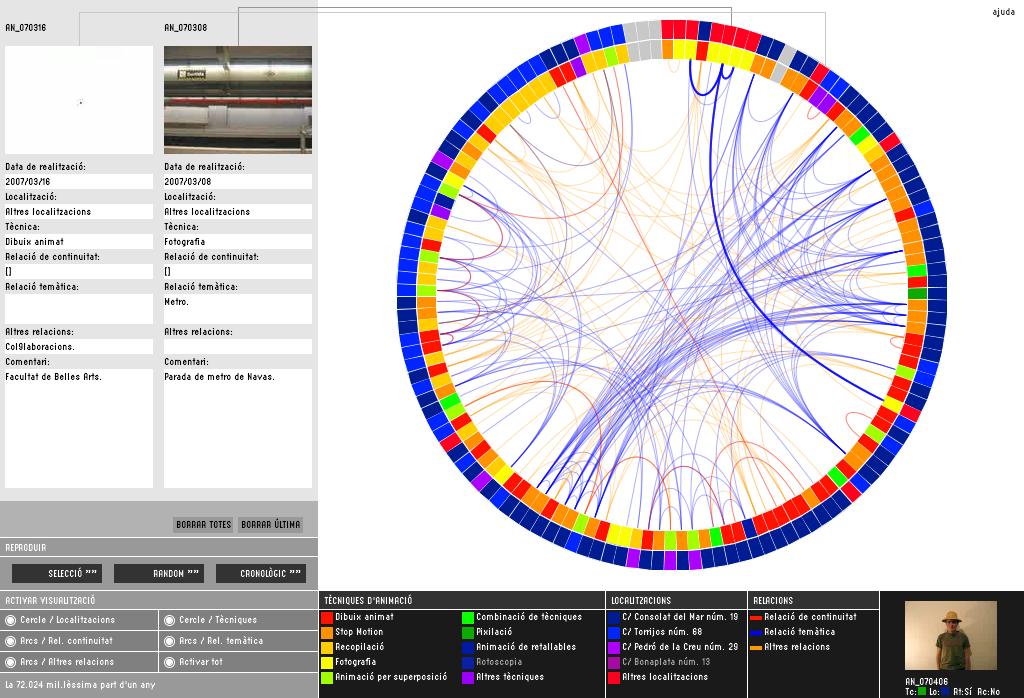 Captura de l'espai interactiu per a la portada del projecte
